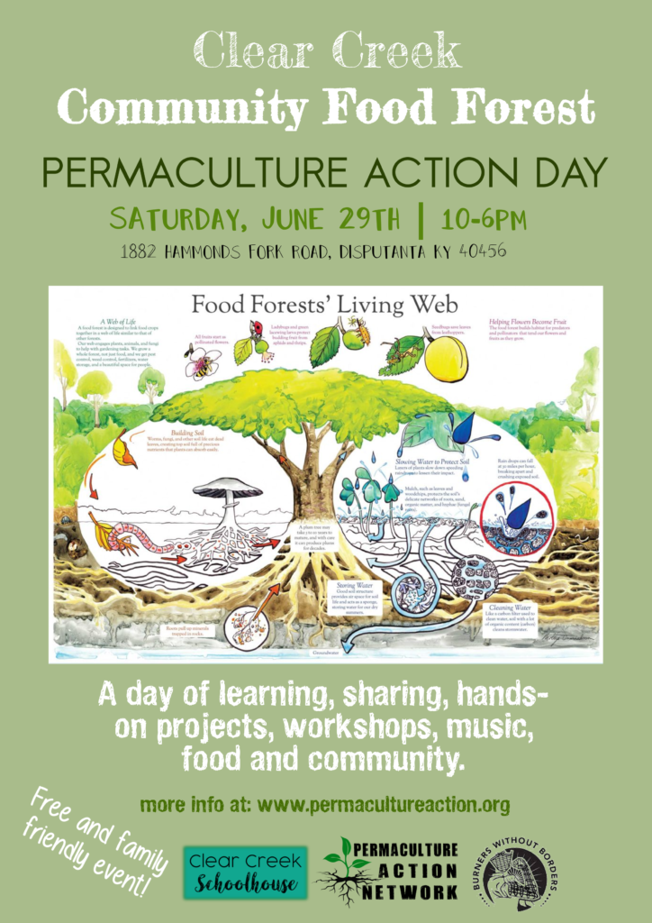 Permaculture And Food Forest Gardens Native Plant Talk: Permaculture Action Day At Clear Creek Community Food